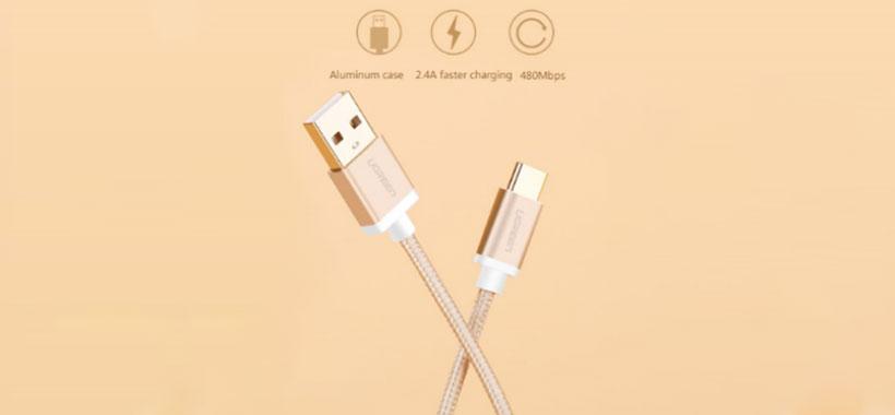 کابل تبدیل USB 2.0 به Type-C یوگرین