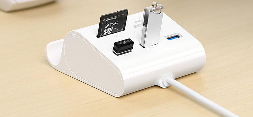 مجهز به 3 پورت USB 3.0 و دو اسلات کارت خوان