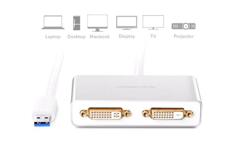 دستگاه های سازگار با مبدل Ugreen USB 3.0 to Dual DVI