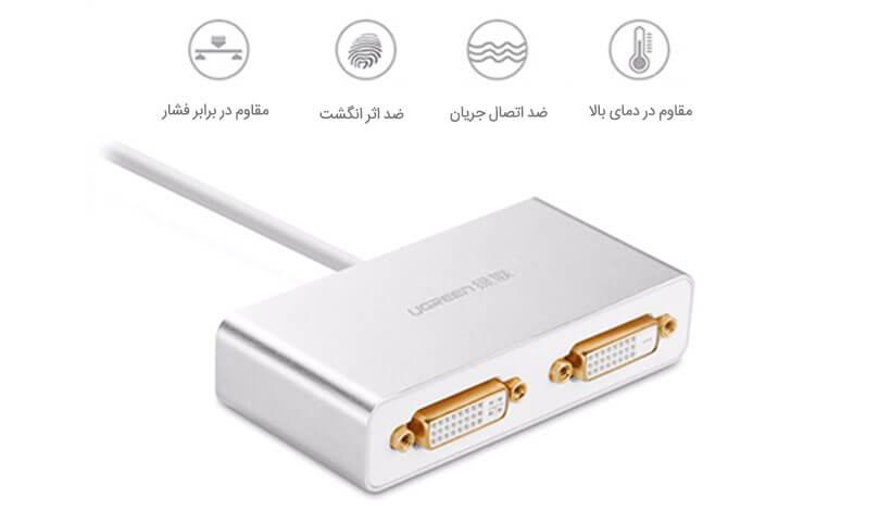 مبدل USB 3.0 به دو DVI یوگرین