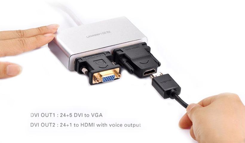رابطهای مبدل USB 3.0 به دو DVI یوگرین