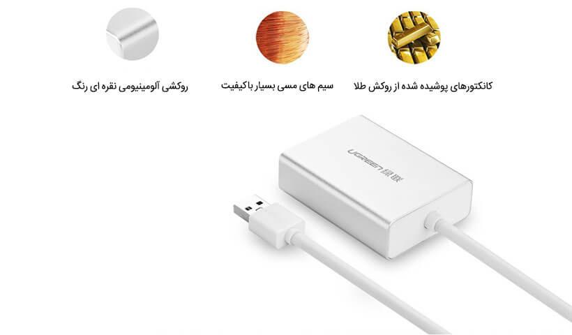 مبدل USB 3.0 به DVI یوگرین