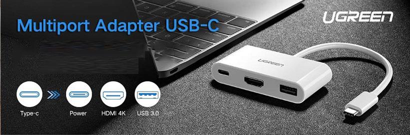 مبدل تایپ سی یوگرین HDMI Multiport Adapter