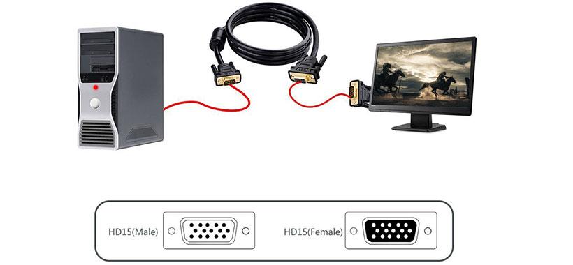 کابل وی جی ای به وی جی ای یوگرین Ugreen VGA To VGA Cable