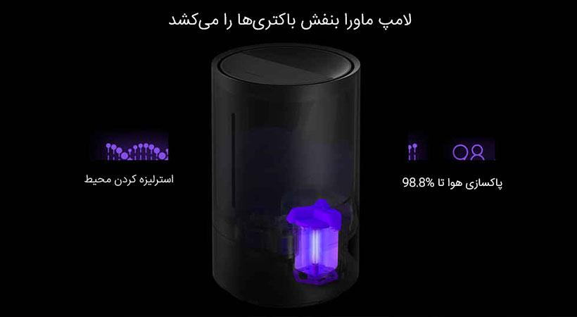 لامپ ماورا بنفش شیائومی باکتریها را میکشد