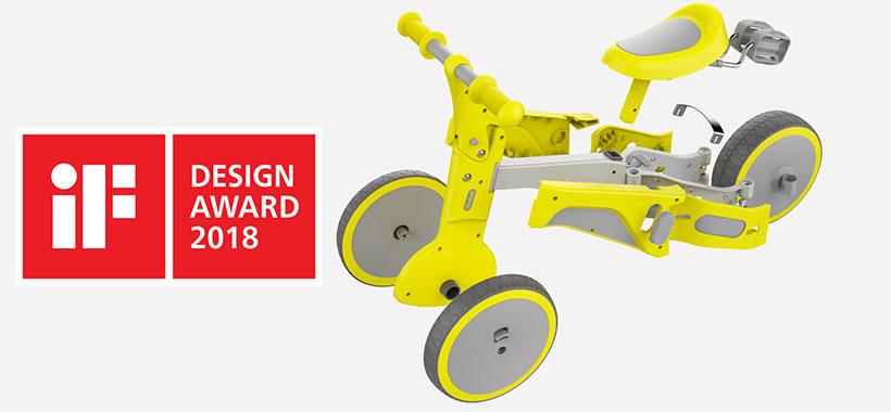 سه چرخه شیائومی برنده جایزه طراحی 2018