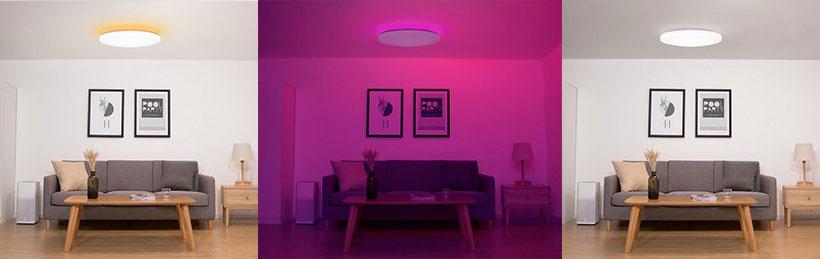 رنگ های مختلف لامپ هوشمند شیائومی