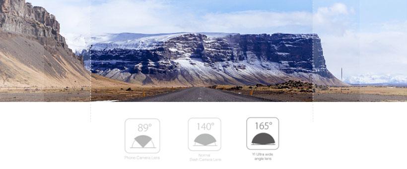 زاویه دید 165 درجه عریض کاربران با دوربین ماشین شیائومی
