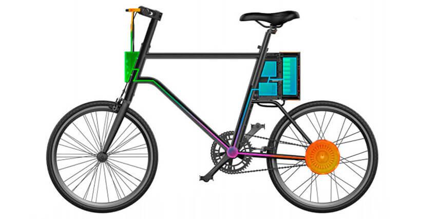 اجزای داخلی دوچرخه شیائومی yunbike c1