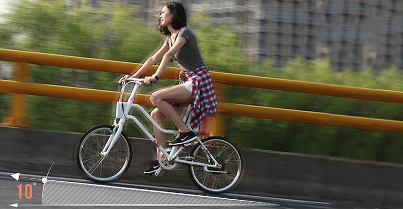 سیستم شناسایی هوشمند شیب دوچرخه شیائومی