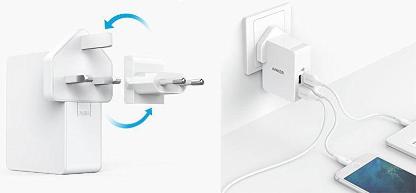 شارژ همزمان 4 دستگاه با شارژر انکر