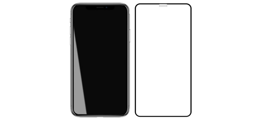 گلس تمام صفحه و تمام چسب گوشی اپل آیفون XS Max