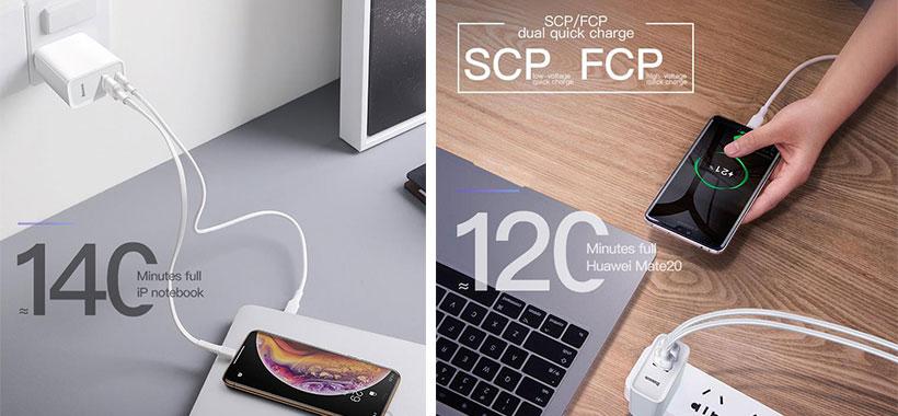 آداپتور بیسوس USB-C+USB-A