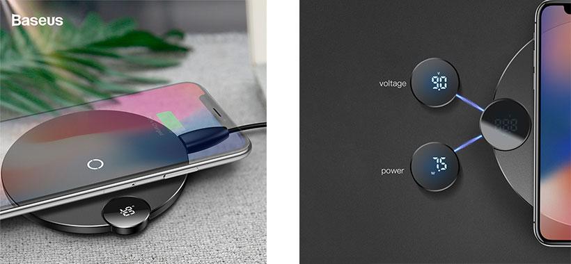 شارژر بی سیم بیسوس Digtal LED Display BSWC-P21 Wireless Charger