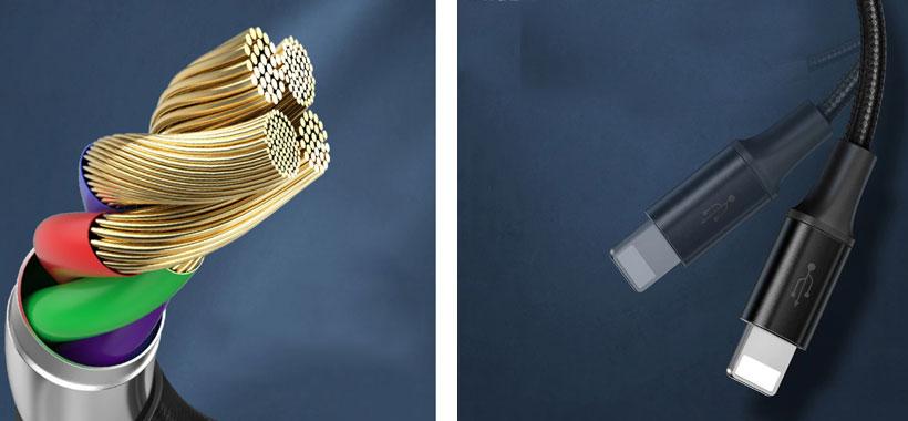 کابل سه سرو شارژر وایرلس اپل واچ بیسوس
