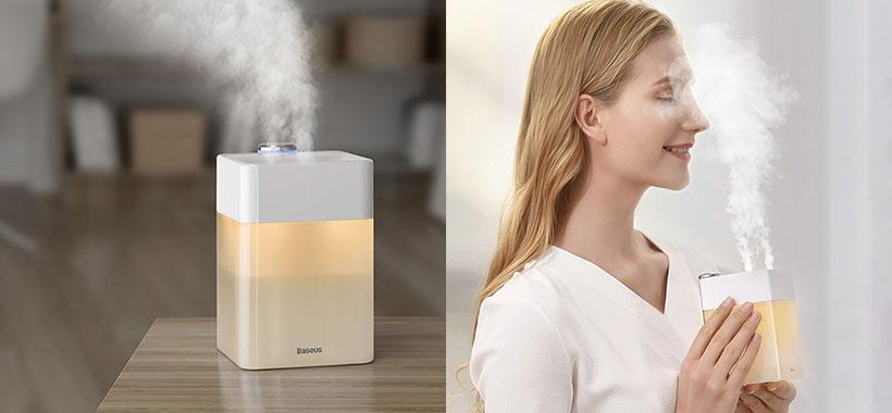 دستگاه بخور سرد بیسوس  Baseus Time Magic Box Double Spray Humidifier DHSG-B02