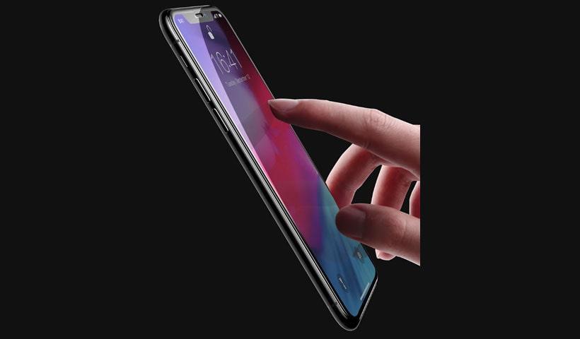 محافظ صفحه نمایش شیشه ای بیسوس آیفون X