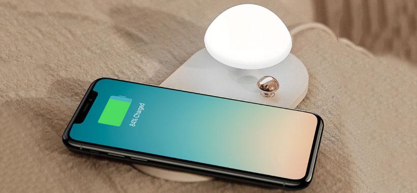 شارژر بی سیم بیسوس Mushroom Lamp Desktop