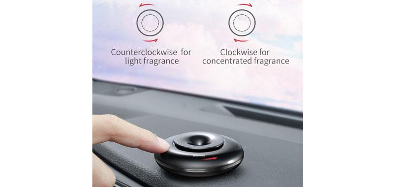 نحوه استفاده از خوشبوکننده بیسوس Circle Vehicle Fragrance Holder