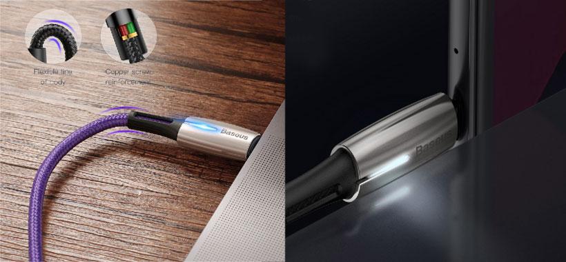 ساختار و طراحی کابل Baseus Water Drop-shaped Lamp