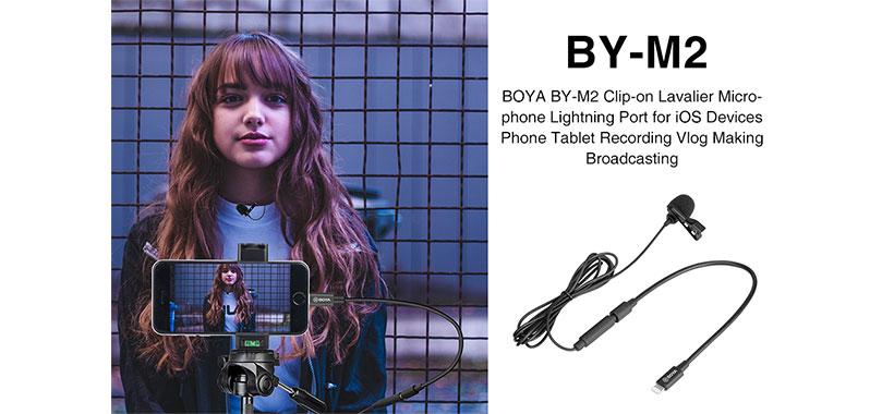 میکروفن گیره دار برای دستگاه های شرکت اپل BOYA BY-M2