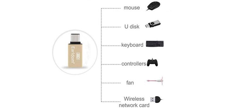 تبدیل USB Type-C به USB 3.0 با کیفیت بسیار خوب
