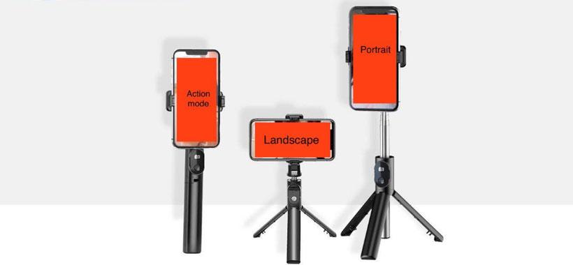 مونوپاد سه پایه دار به همراه فلاش سلفی ارلدام ET-ZP16