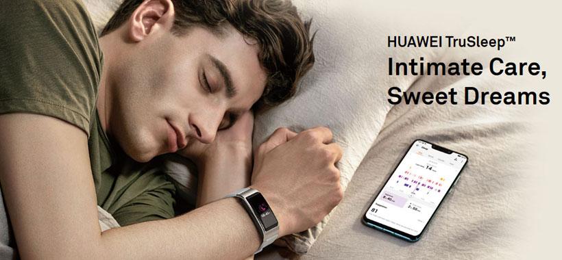 بررسی خواب توسط ساعت هوشمند هواوی Huawei TalkBand B5