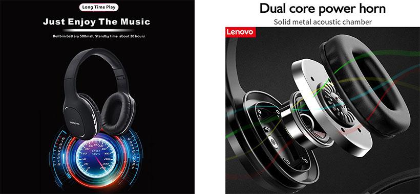صدای با کیفیت هدفون لنوو Lenovo hd300