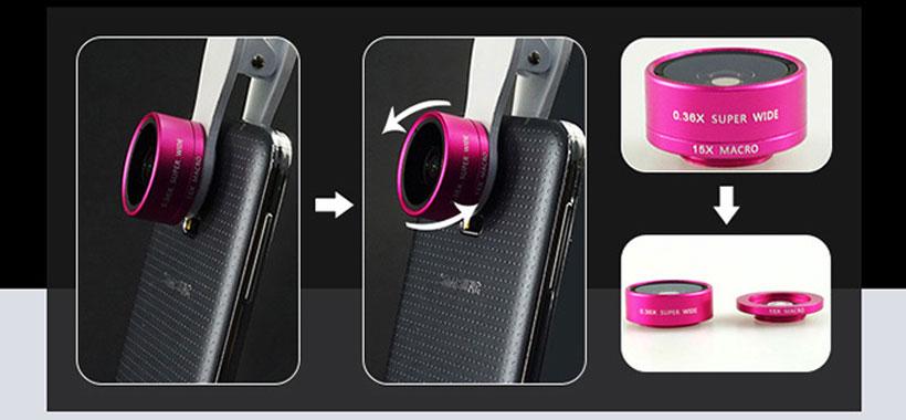 نحوه اتصال لنز روی گوشی