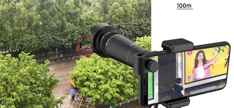 لنز تلسکوپی با سه پایه گوشی موبایل لی کیو آی LQ-181