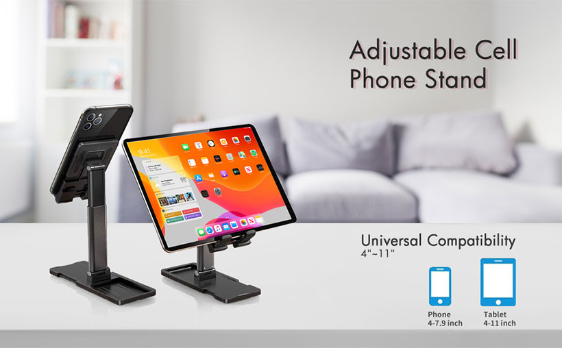 پایه تلفن همراه /تبلت قابل تنظیم Lifting Folding Desktop Bracket Mobile
