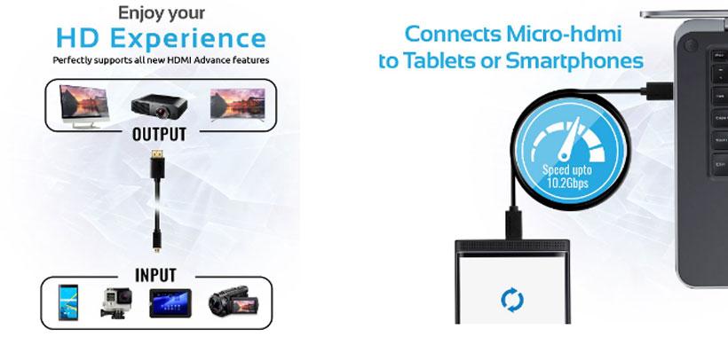 کابل پرومیت LinkMate-H3 Micro HDMI to HDMI