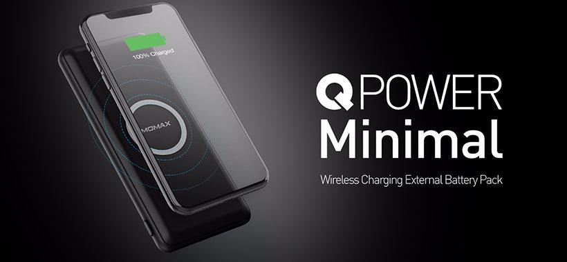 پاور بانک و شارژر وایرلس مومکس QPower minimal IP89