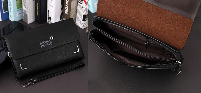 طراحی کیف چرمی چند منظوره Mont Blanc 7300