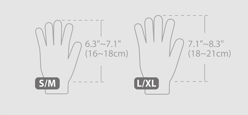 سایزبندی دست کش موشی
