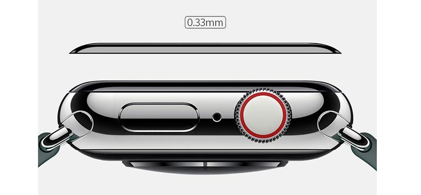 ضخامت کم برابر با 0.33mm گلس اپل واچ