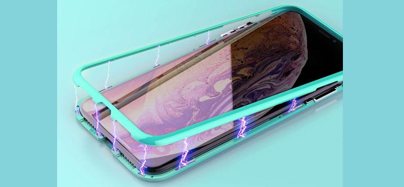 کاور گلدار مگنتی نیلکین iPhone XR