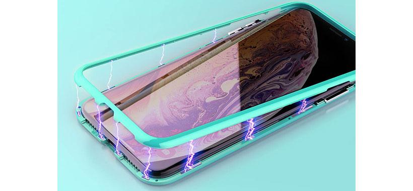 کاور گلدار مگنتی نیلکین iPhone XS Max
