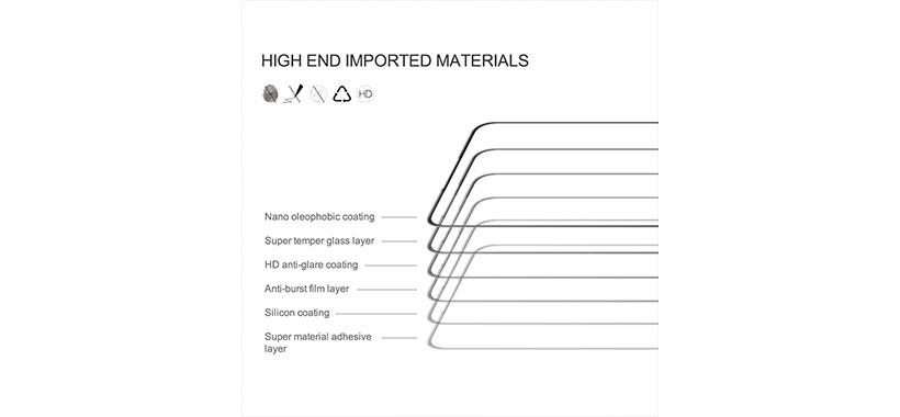 ساختار چندلایه  محافظ صفحه نیلکینCP+ Pro