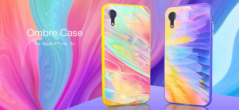 قاب محافظ شیشه ای سری Ombre نیلکین اپل آیفون XR