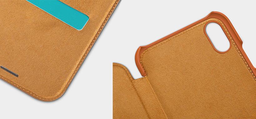 کیف چرمی نیلکین از سری Qin iphone xr