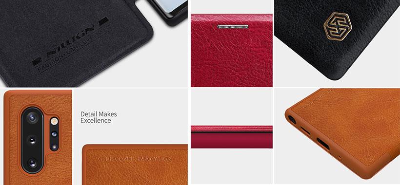 کیف چرمی نیلکین سامسونگ Note 10 Plus