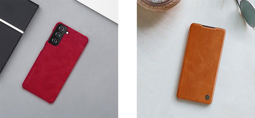 کیف چرمی نیلکین سامسونگ S21 Plus