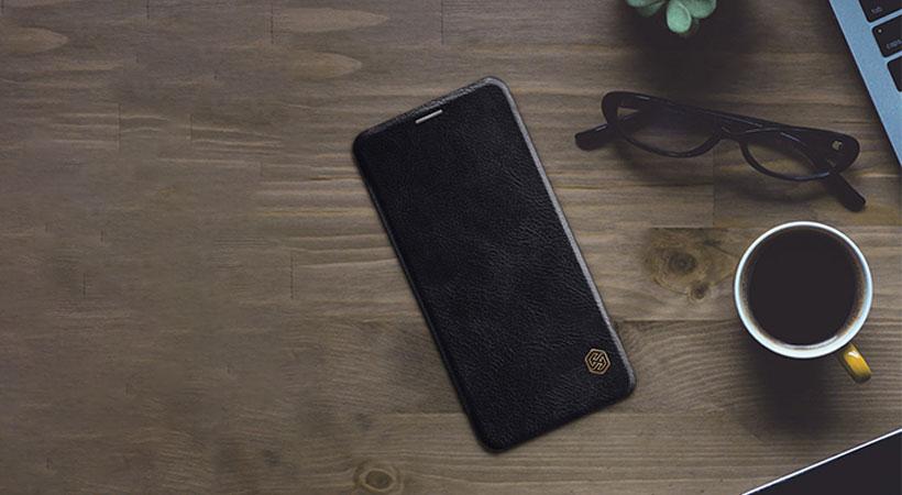 کیف چرمی نیلکین سامسونگ Nillkin Qin Leather Case Samsung Galaxy A6 Plus 2018