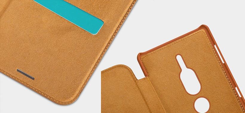 کیف چرمی نیلکین سونی XZ2 Premium