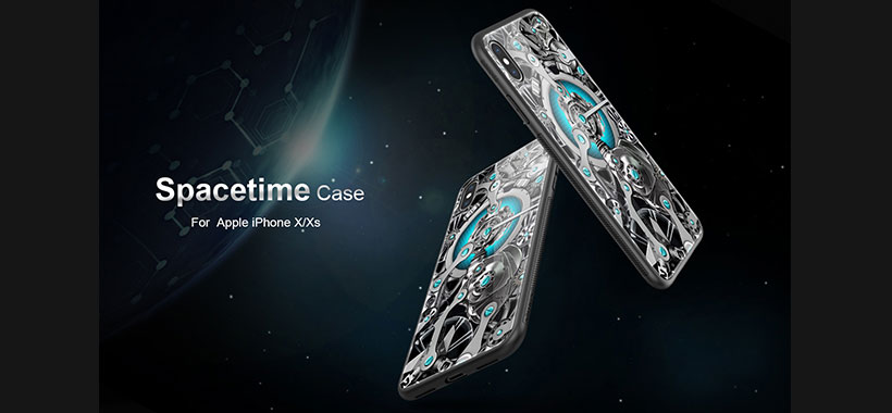 قاب محافظ ژله ای شیشه ای سری Spacetime نیلکین اپل آیفون XS Max