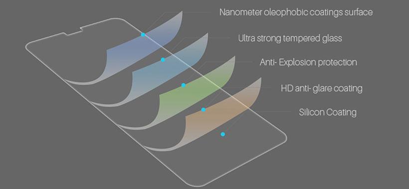 محافظ صفحه شیشه ای نیلکین آیفون iPhone XS Max