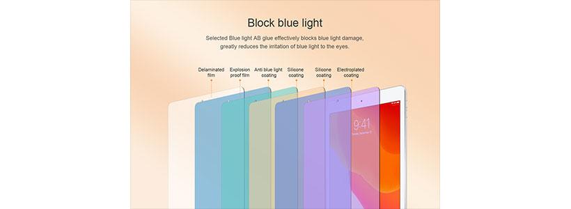 محافظ صفحه شیشه ای ضد نور آبی V+ نیلکین