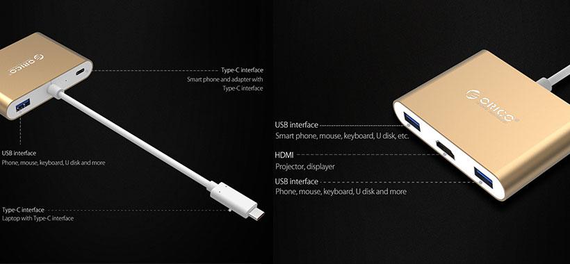 هاب HDMI Type-C ORICO